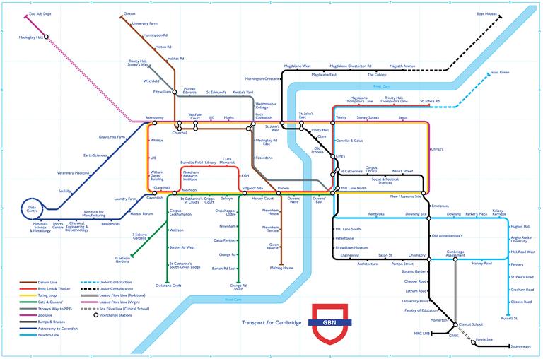 Representational map of the 1,000km long Granta Backbone Network. Click to enlarge.