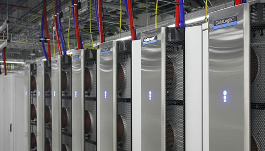 The new HPC racks in the West Cambridge Data Centre
