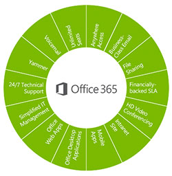 Microsoft Office 365 features