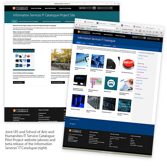 UIS IT Catalogue project websites