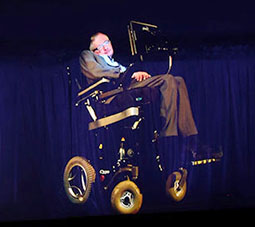 Professor Hawking's virtual appearance at the Sydney Opera House, live from UIS' videoconferencing studio in town