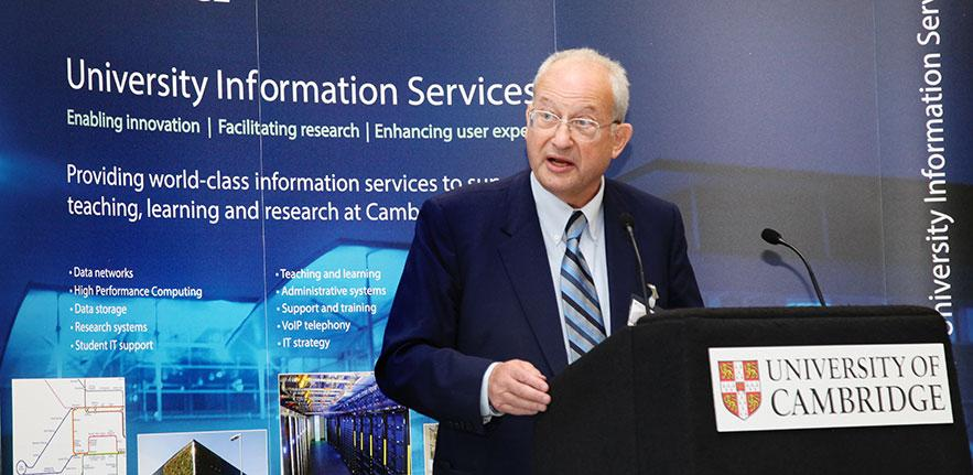 The Chancellor outlined the history of supercomputing at Cambridge